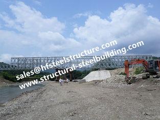 China Geprefabriceerde van de de Brug Modulaire Ontworpen, Tijdelijke Noodsituatie van Staalvestingmuur het Structurele Gegalvaniseerde Staalbrug leverancier