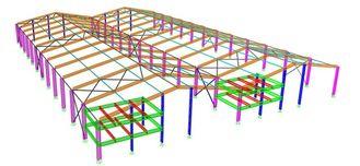 China Poort Structurele de Techniekontwerpen van het Staalkader, Normaal/Speciaal Structuurtype leverancier