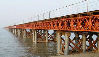 China OEM/Douane die Modulaire Staalbrug/de Compacte Geprefabriceerde Brug van Vestingmuur lassen leverancier