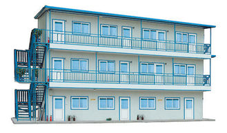 China Twee/Drie Laag Draagbaar Prefab het Staalhuis van Recyling voor Tijdelijke Woonplaats leverancier