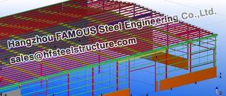 China De burgerlijke bouwkunde Structurele Ontwerpen van de staalworkshop voor Fabrications leverancier