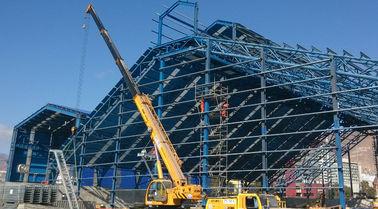 Industriële gebouwen van het staal