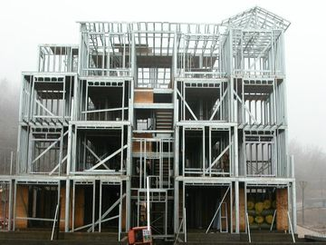 Het snelle Pakhuis van het Structurele Staalfabrications van de Plaatsbouw in Nauwkeurige Berekening/Pre-assemblage