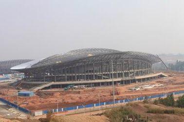 OEM Staalstructuur, Geprefabriceerde de Bundelgebouwen van het Pijpmetaal en Sportenstadions