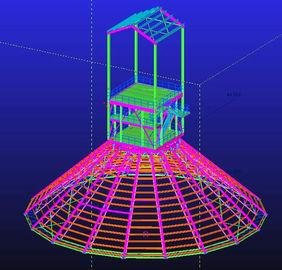 Gegalvaniseerde douane Hete Onderdompeling, de Waterdichte, Geprefabriceerde Ontwerpen van de Staal Structurele Techniek